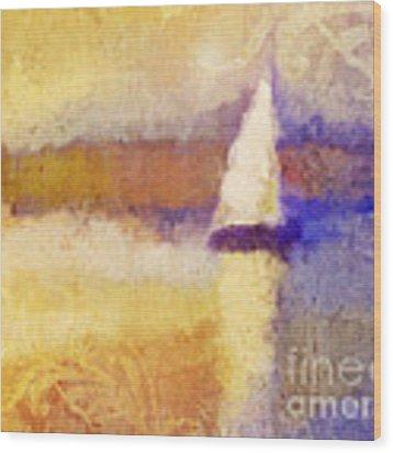 Golden Hour Sailing Wood Print by Lutz Baar
