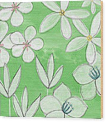 Green Garden Wood Print by Linda Woods