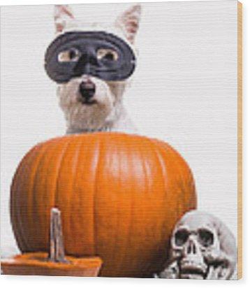 Happy Halloween Wood Print by Edward Fielding