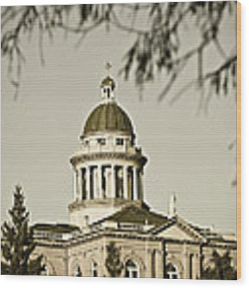 Historic Auburn Courthouse 6 Wood Print by Sherri Meyer