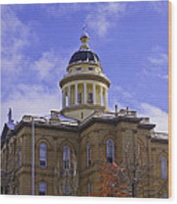 Historic Auburn Courthouse 7 Wood Print by Sherri Meyer
