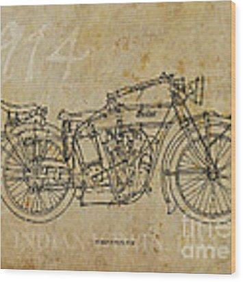 Indian V-twin 1914 Wood Print