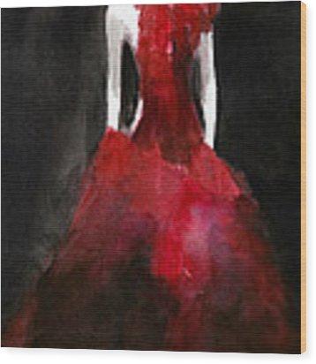 Inspired By Alexander Mcqueen Fashion Illustration Art Print Wood Print