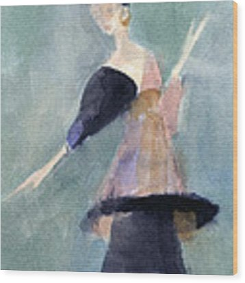 Inspired By Paul Poiret Fashion Illustration Art Print Wood Print by Beverly Brown