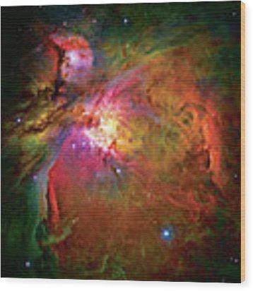 Into The Orion Nebula Wood Print