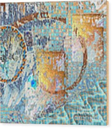 Inw_20a6020sq Ageless Glacial Memories Wood Print by Kateri Starczewski