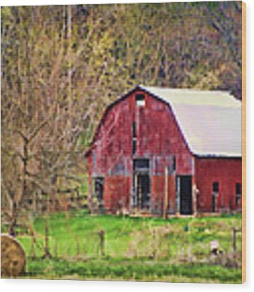 Jemerson Creek Barn Wood Print by Cricket Hackmann