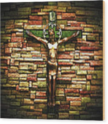 Jesus Is His Name Wood Print by Al Harden