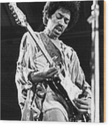 Jimi Hendrix Live 1970 Wood Print