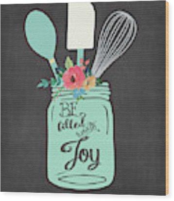 Joy Jar Wood Print