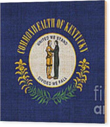 Kentucky State Flag Wood Print