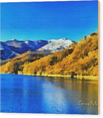 Lago Del Brugneto - Brugneto Lake Wood Print by Enrico Pelos