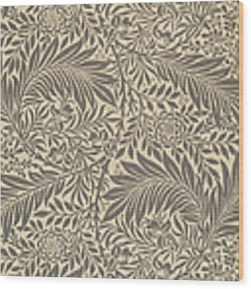 Larkspur Wallpaper Design Wood Print