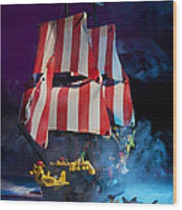 Lego Pirate Ship Wood Print