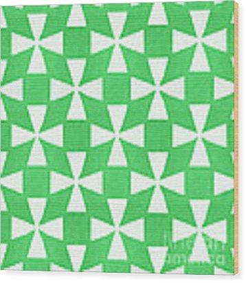Lime Twirl Wood Print