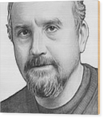 Louis Ck Portrait Wood Print