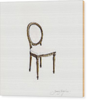 Louis Style Chair Wood Print