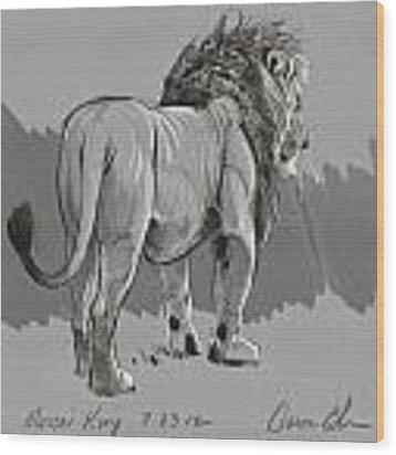 Masai King Wood Print