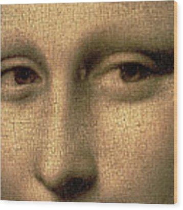 Mona Lisa    Detail Wood Print