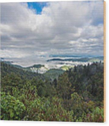 Mountain Fog Wood Print by Francis Trudeau