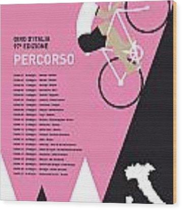 My Giro D Italia Minimal Poster 2014-percoso Wood Print