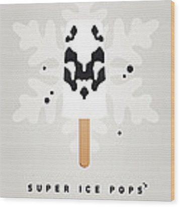 My Superhero Ice Pop - Rorschach Wood Print