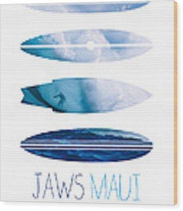 My Surfspots Poster-1-jaws-maui Wood Print by Chungkong Art