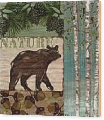 Nature Trail II Wood Print by Paul Brent