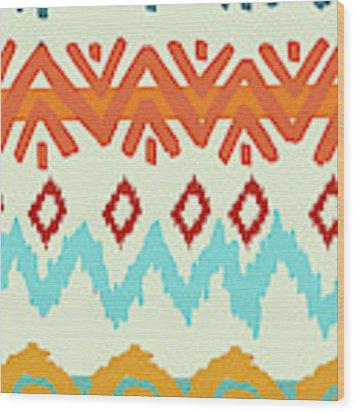 Navajo Missoni I Wood Print