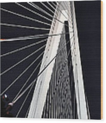 New Mississippi River Bridge Wood Print by Matthew Chapman