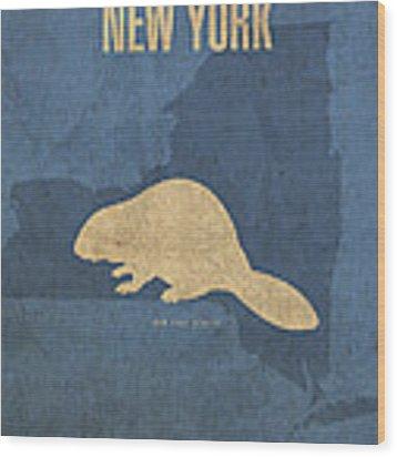 New York State Facts Minimalist Movie Poster Art  Wood Print