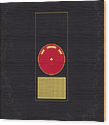 No003 My 2001 A Space Odyssey 2000 Minimal Movie Poster Wood Print