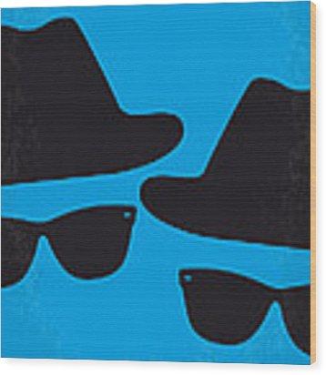 No012 My Blues Brother Minimal Movie Poster Wood Print