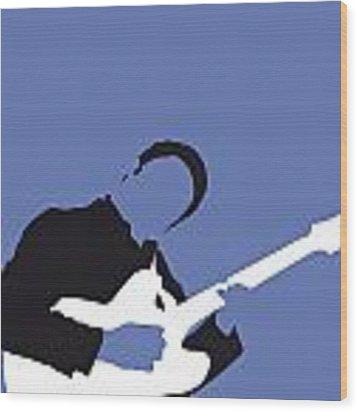 No048 My Bb King Minimal Music Poster Wood Print by Chungkong Art
