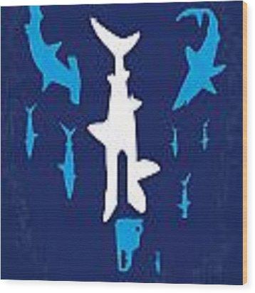 No216 My Sharknado Minimal Movie Poster Wood Print