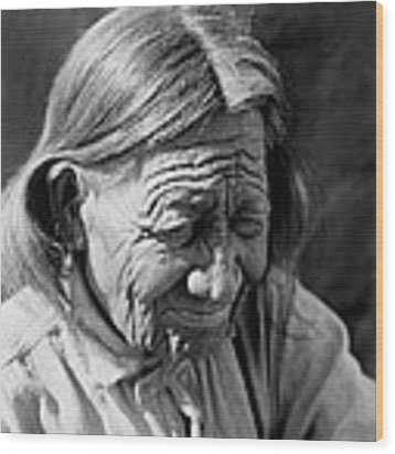Old Arapaho Man Circa 1910 Wood Print