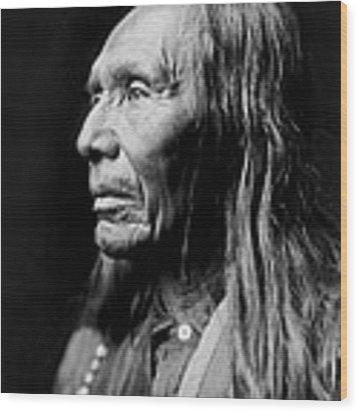 Old Nez Perce Man Circa 1910 Wood Print by Aged Pixel