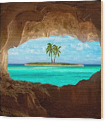 Paradise Wood Print by Matt Anderson
