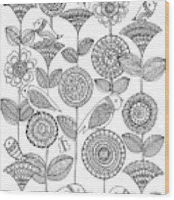 Pattern 12 Wood Print by MGL Meiklejohn Graphics Licensing