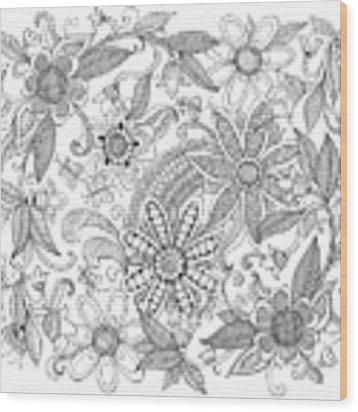 Pattern 3 Wood Print
