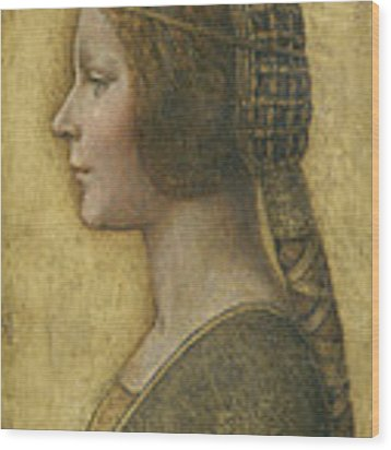 Profile Of A Young Fiancee Wood Print