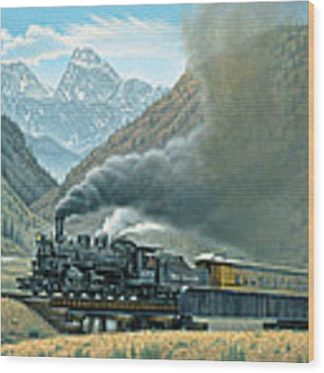 Pulling For Silverton Wood Print