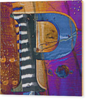Purple Infusion Wood Print by Carol Leigh