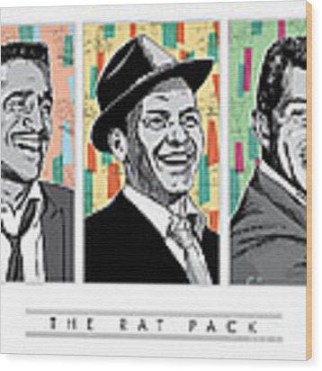 Rat Pack Pop Art Wood Print by Jim Zahniser
