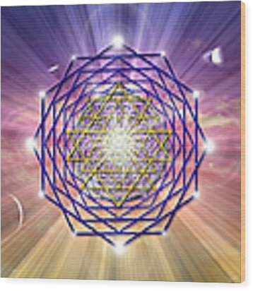 Sacred Geometry 1 Wood Print by Endre Balogh