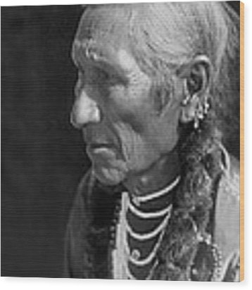 Salish Indian  Circa 1910 Wood Print by Aged Pixel