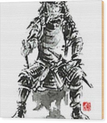 Samurai Sword Bushido Katana Armor Silver Steel Plate Metal Kabuto Costume Helmet Martial Arts Sumi- Wood Print