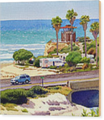 San Elijo Campground Cardiff Wood Print