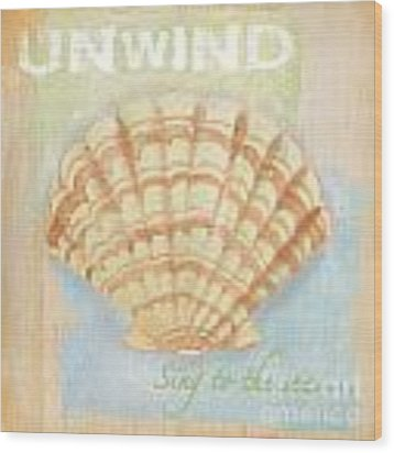 Seaside Retreat-b Wood Print by Jean Plout