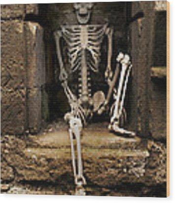 Skeleton Wood Print